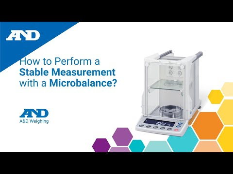 How to perform a stable measurement with a microbalance