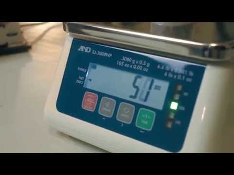 Weighing at the Speed of Lights | SJ-WP Series Waterproof Checkweighing Scales from A&D
