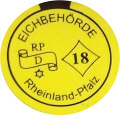 Eichmarke Rheinland-Pfalz