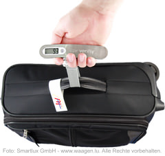 Kofferwaage MyWeigh verifly mit Koffer