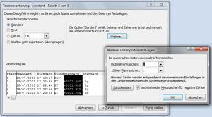 CSV Textkonvertierungs-Assisten in Excel