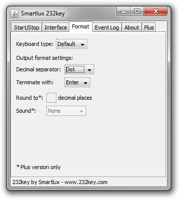 232key Datenerfassung Waage Format-Tab V104