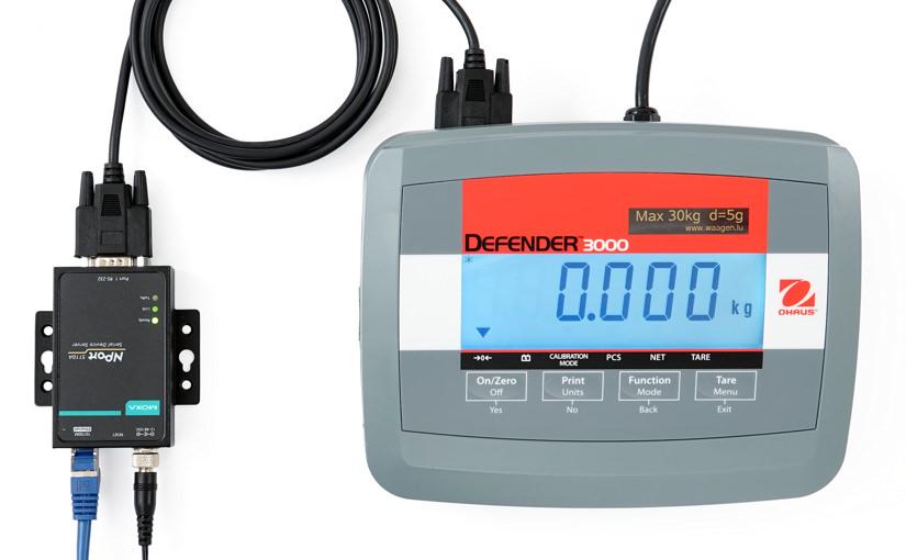 Ethernet-Anschluss für Waagen mit serieller Schnittstelle (RS-232)