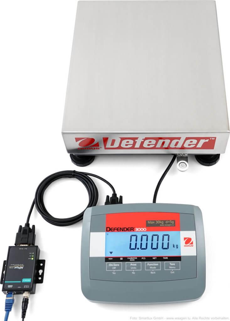 Anschluss einer Paketwaage an ein Netzwerk (Ethernet)