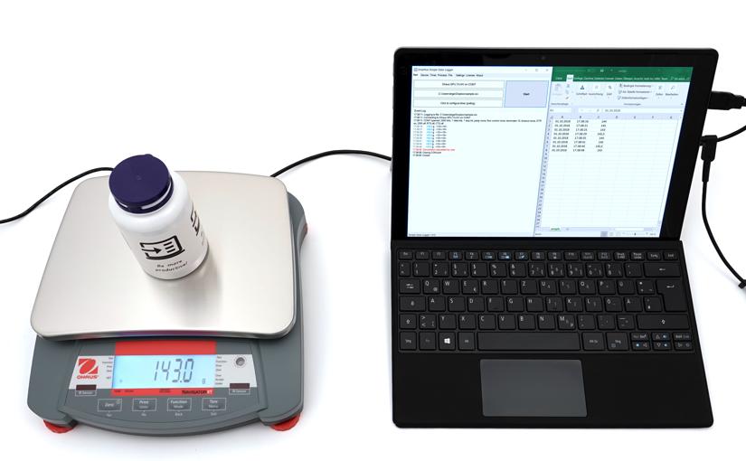 Neue Software zur Aufzeichnung des Gewichts in einer CSV-Datei – Import in Excel