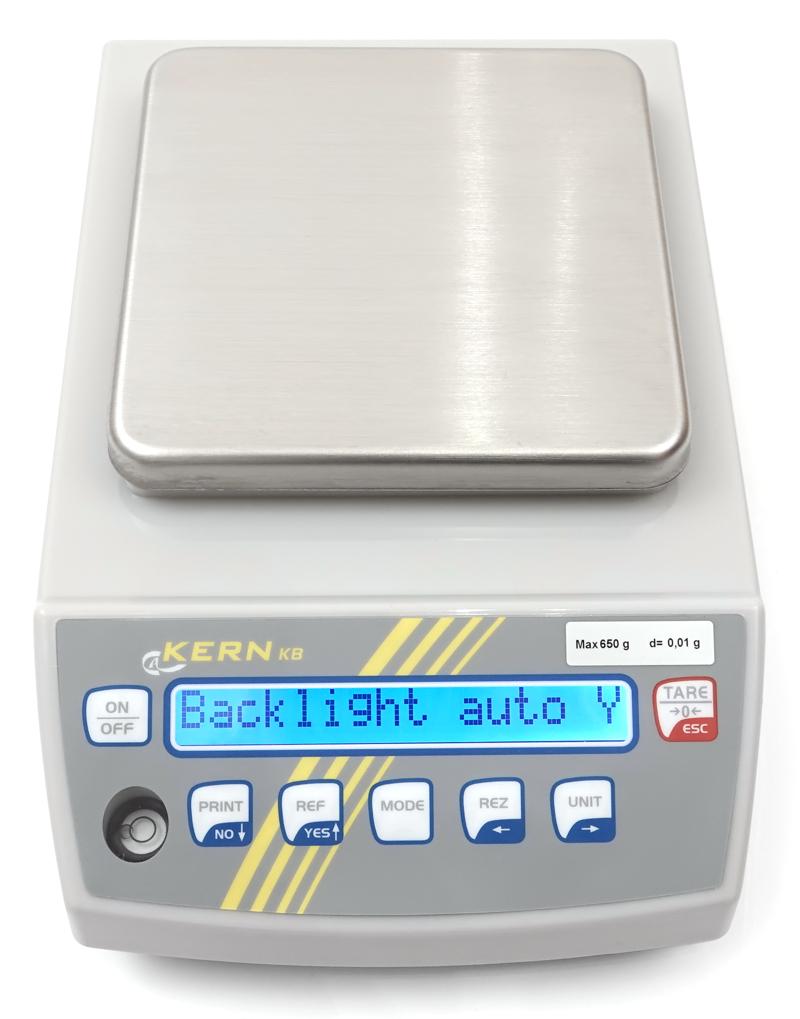 Display der Präzisionswaage Kern KB 650-2N