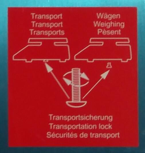 Waage Kern IFB Aufkleber Transportsicherung Variante 1