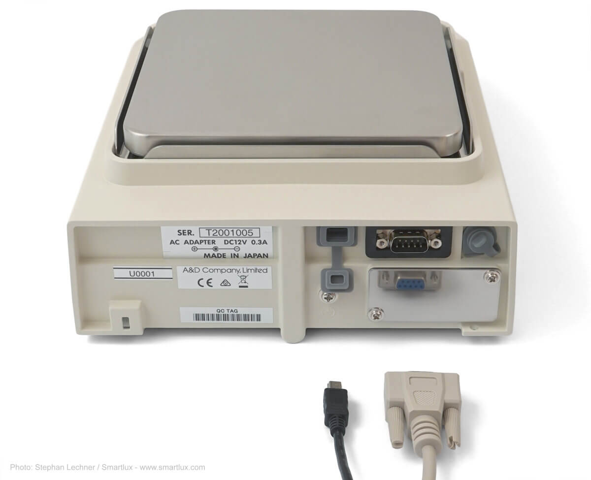 GX-A Präzisionswaage von A&D: Schnittstellen USB und RS-232