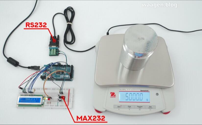 Arduino mit Waage Ohaus Navigator verbinden (via RS-232)