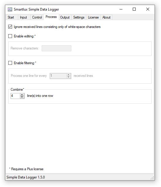 Process-tab 4 Gewichtswerte in eine Zeile schreiben